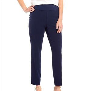 Investments Navy Blue Pull-On Secret Support Pants